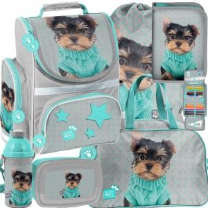 Originální a praktická šest dílná školní taška pro pvňáčky s motivem psa