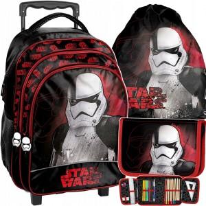 Trojkombinace školní tašky na kolečkách s motivem star wars