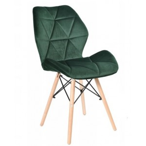 Měkká zelená židle do interiéru