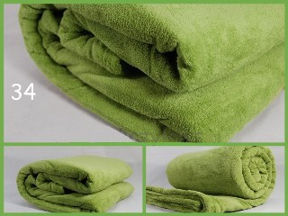 Jemna hřejivá deka barva zelená