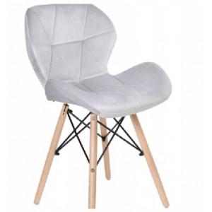 Kvalitní židle do moderního interiéru v šedé barvě