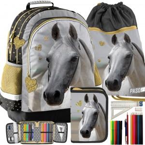 Školní batoh pro dívky v trojkombinaci s vakem a penálem