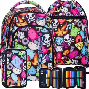 Originální školní batoh pro středoškoláky v praktické trojkombinaci