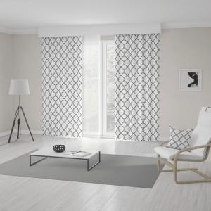 Unikátní závěs v bílo černém provedení s trendy skandinávský vzorem