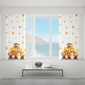 Krásné dětské závěsy šité na míru s motivem emoji