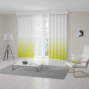 Designové závěsy do obýváku v trendy ombré žluto zeleném provedení