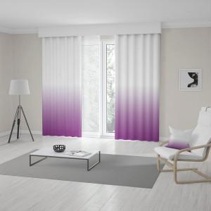Bílo fialový závěs šitý na míru s trendy vysokým ombré designem