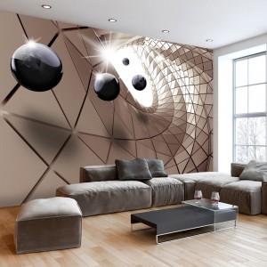 Originální 3D tapeta s abstraktním motivem utopie