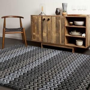 Hnědo šedý koberec do obýváku