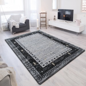 Moderní šedý koberec