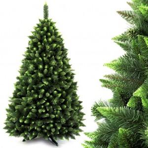 Vánoční stromek se světle zelenými větvičkami na koncích