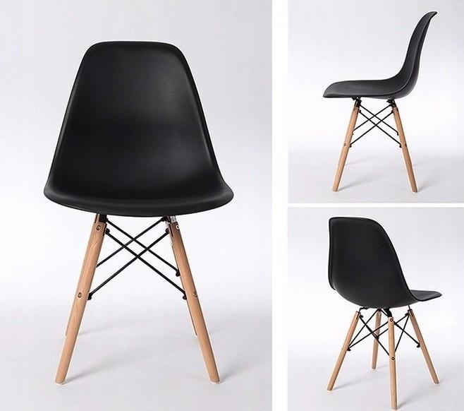 Elegantní černá židle do interiéru