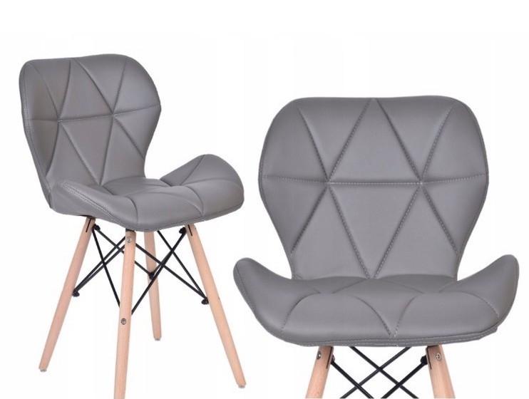 Pohodlná šedá židle