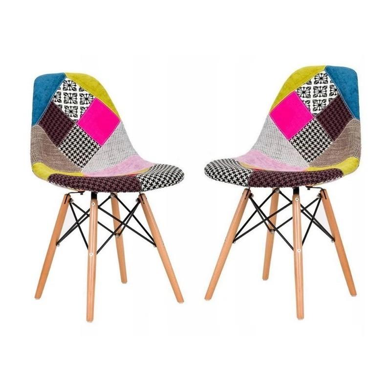 Moderní pestrobarevná židle ve skandinávském stylu