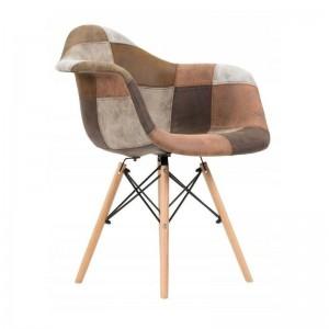 Designová kuchyňská židle hnědé barvy