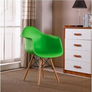 Elegantní kuchyňská židle zelené barvy