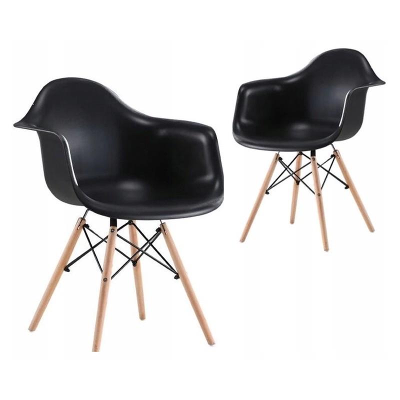Moderní kuchyňská židle v elegantní černé barvě