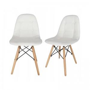 Pohodlná bílá židle do moderního interiéru