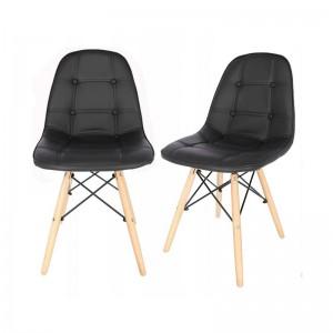 Luxusní jídelní židle černé barvy