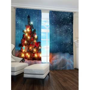 Závěs s motivem vánočního stromku v zasněžené krajině