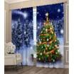 Krásný 3D závěs s vánočním stromečkem