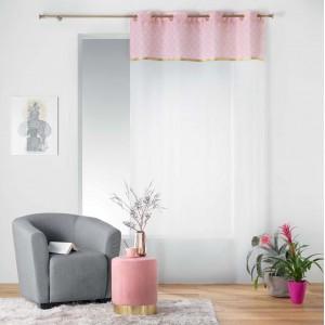 Elegantní záclona s růžově zlatým vrchem DUCHESSE