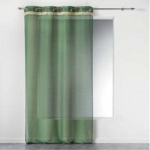 Stylová zelená záclona na okno FRANGY