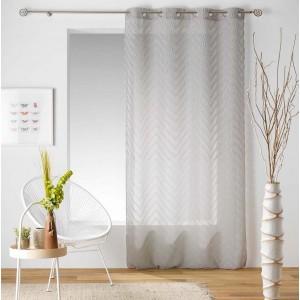 Béžová záclona s elegantním vzorem SAHARA