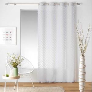 Bílá dlouhá záclona na okno SAHARA