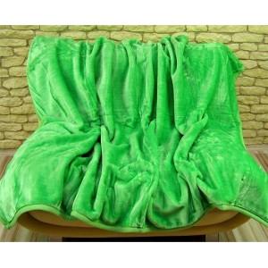 Luxusní teplé deky s potiskem jasno zelené barvy