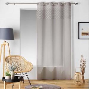 Elegantní záclona béžové barvy SAHARA TOP