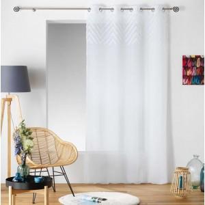 Bílá záclona z splývavého materiálu SAHARA TOP