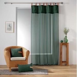 Záclona v zelené barvě s lesklým vrchem MILLERAY