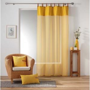 Moderní žlutá záclona do obýváku MILLERAY