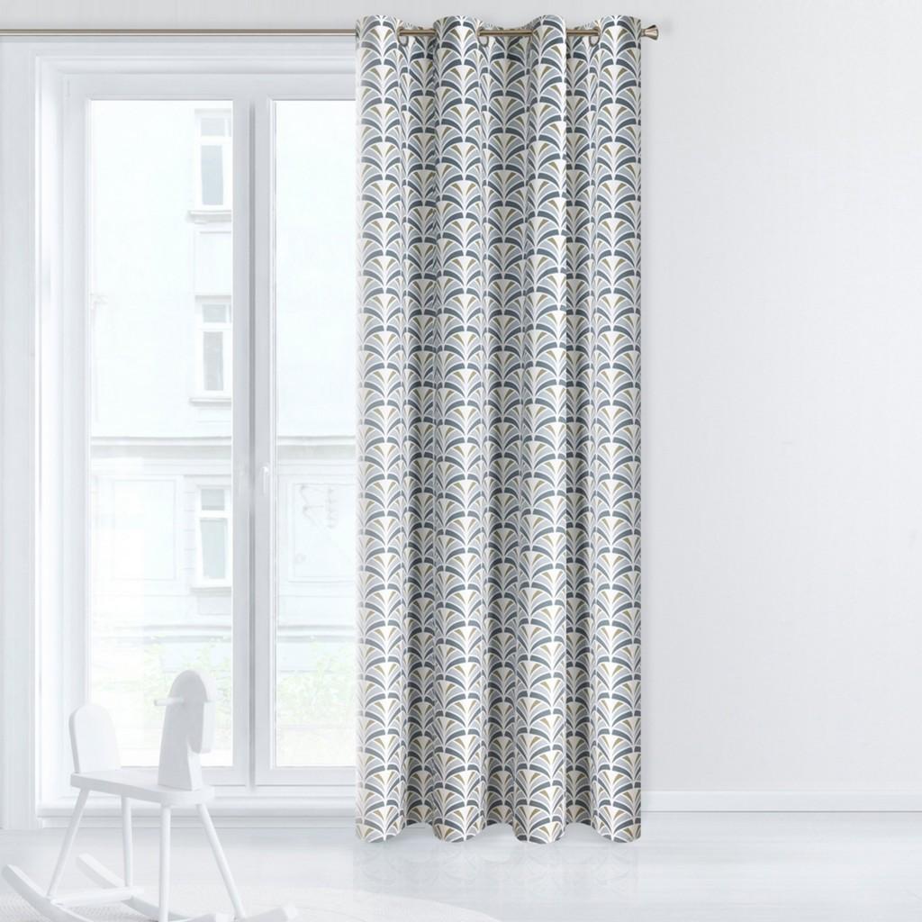 Moderní dekorační závěs s geometrickým vzorem