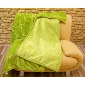 Originální teplé deky s potiskem světle zelené barvy