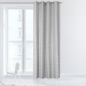 Vzorované dekorační závěsy stříbrné barvy