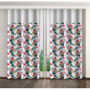 Moderní dekorační závěs s květinovým motivem