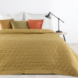 Jednobarevný olivově zelený přehoz na postel