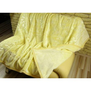 Luxusní deky z akrylu 160 x 210cm žltá č.38