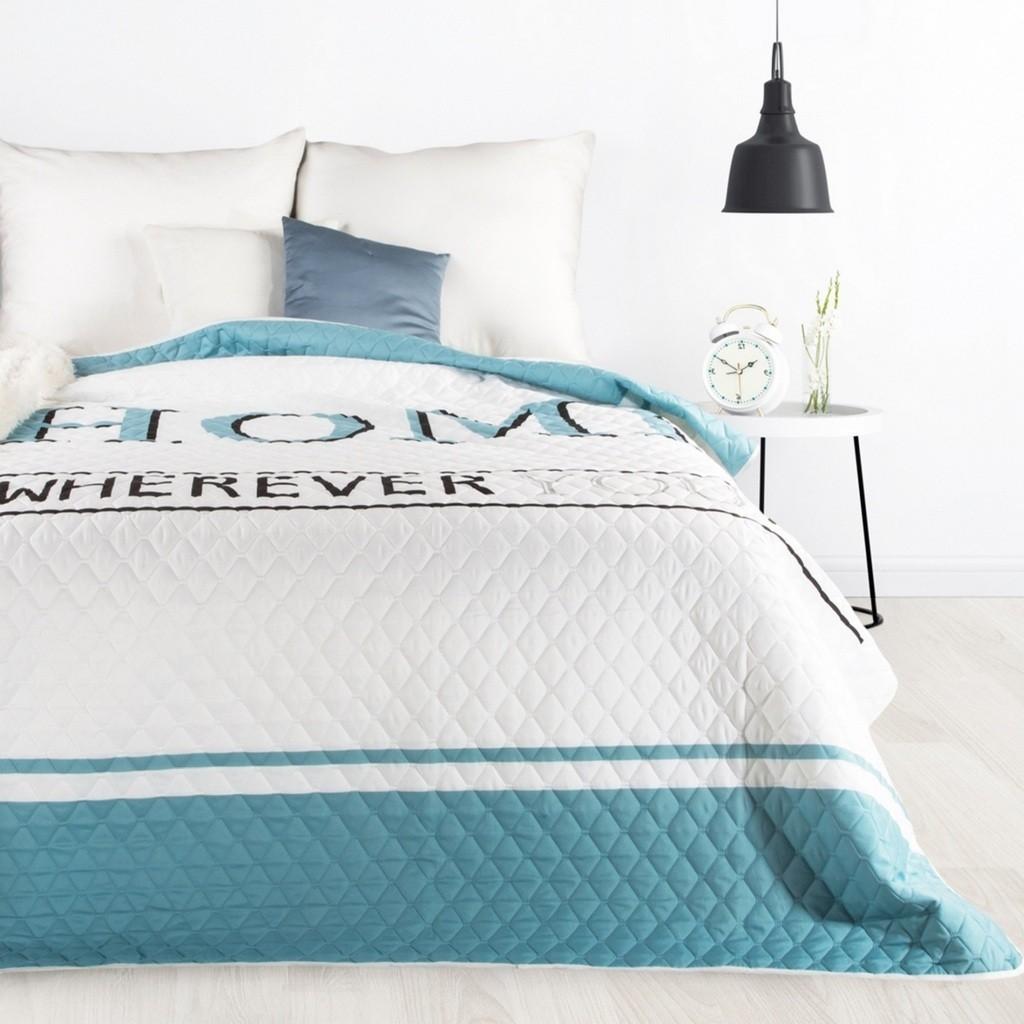 Luxusní barevný přehoz na postel s jemným prošíváním