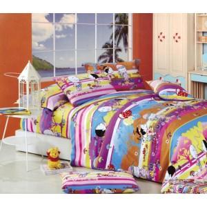 Barevné povlaky na dětskou postel s motivy