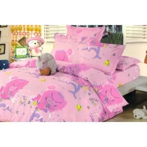 Růžové povlečení na dětskou postel