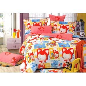 Barevný povlak na dětskou postel s potiskem
