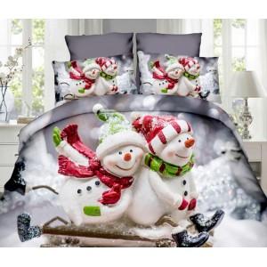 Vánoční ložní povlečení se sněhuláky
