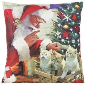 Dekorační povlak na polštář s motivem Vánoc 40x40 cm