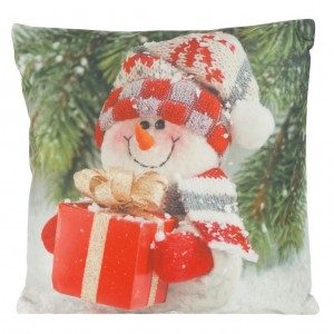 Pestrobarevný vánoční povlak na polštář