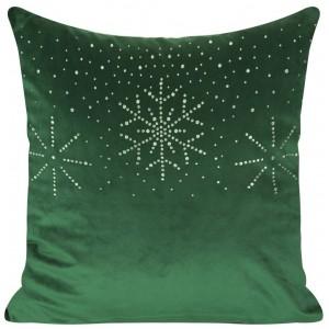 Vánoční povlaky na polštáře zelené barvy 40x40 cm