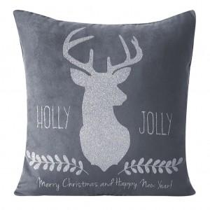 Dekorační povlak se stříbrným vánočním motivem