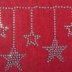 Krásný vánoční běhoun na stůl v červené barvě